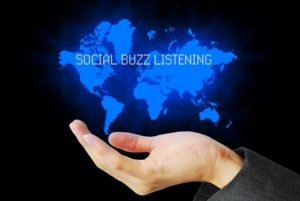 36431128 - hand touch social buzz listening technology background
